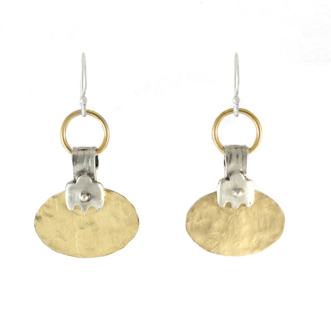 Western Moroccan Style Silver & Goldfield Medium-Small Earrings