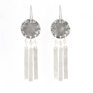 Open image in slideshow, Silver & Gold filled Circular Medium Size Earrings - Shulamit Kanter