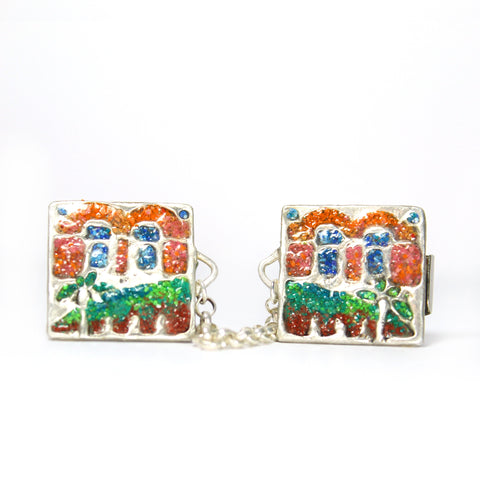 The Golden Gate - Silver Tallit Clips