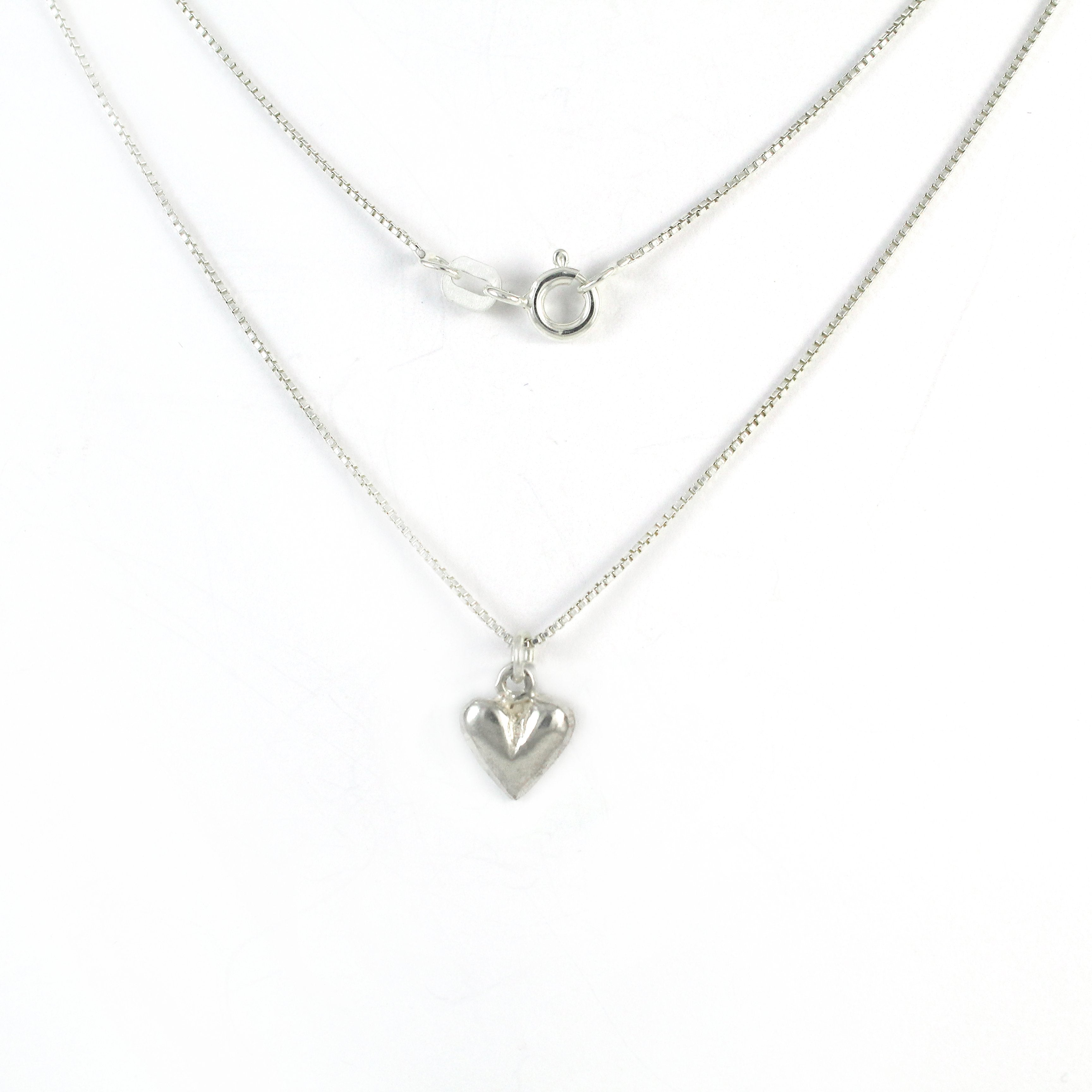 Small Heart Silver Necklace - Shulamit Kanter