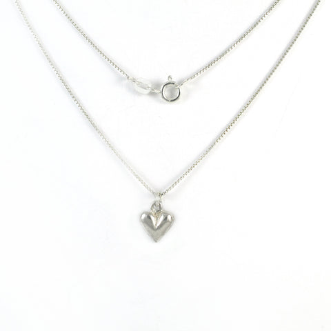 Small Heart Silver Necklace