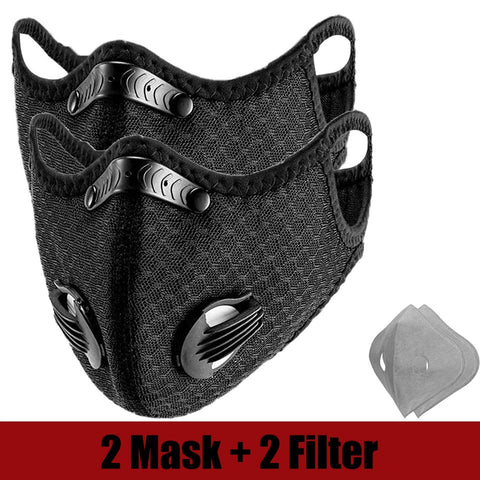 Twin pack Face Masks with Filters