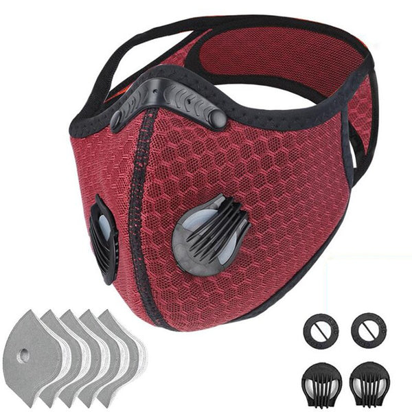 Advanced Protective Face Mask with 5 Filters and  4 Valves