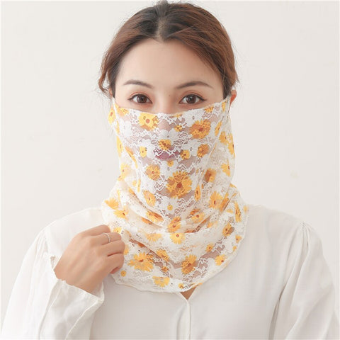 Face Scarf Floral Lady Cover