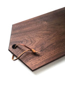 Modern elongated hexagon serving board