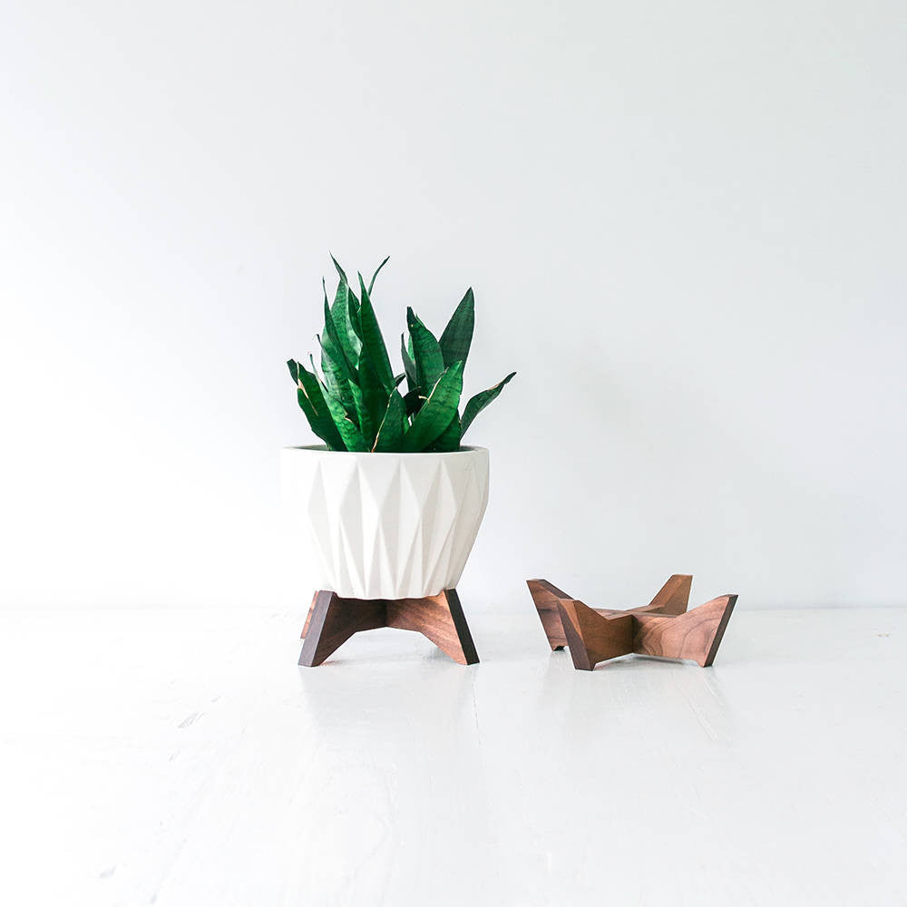 Mid Century Modern Plant Stand for Table Top
