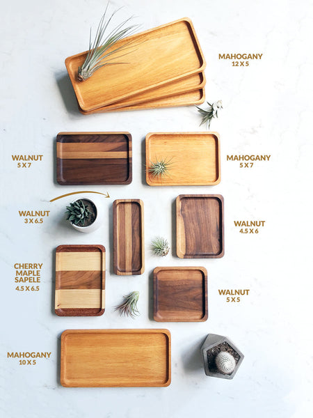 One Of A Kind Wooden Valet Trays