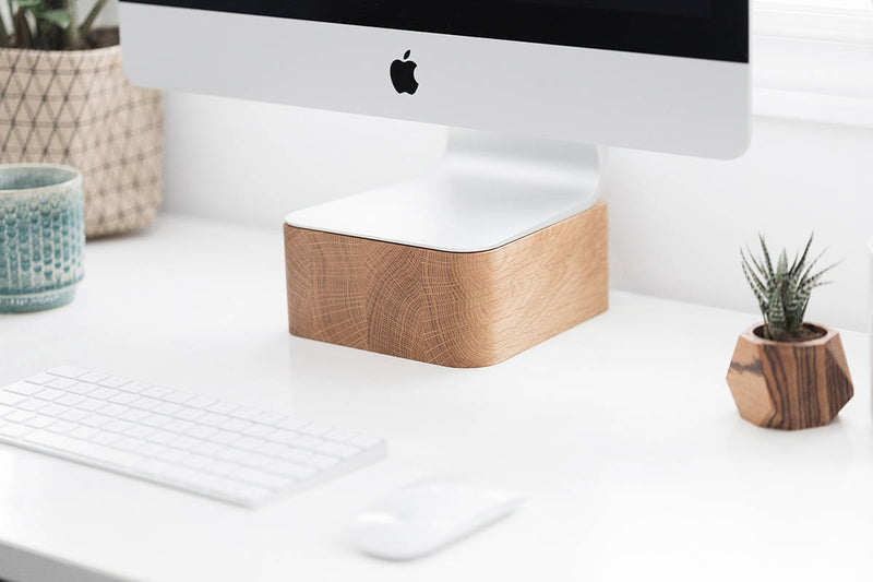 iMac & Thunderbolt Computer Stand in OAK