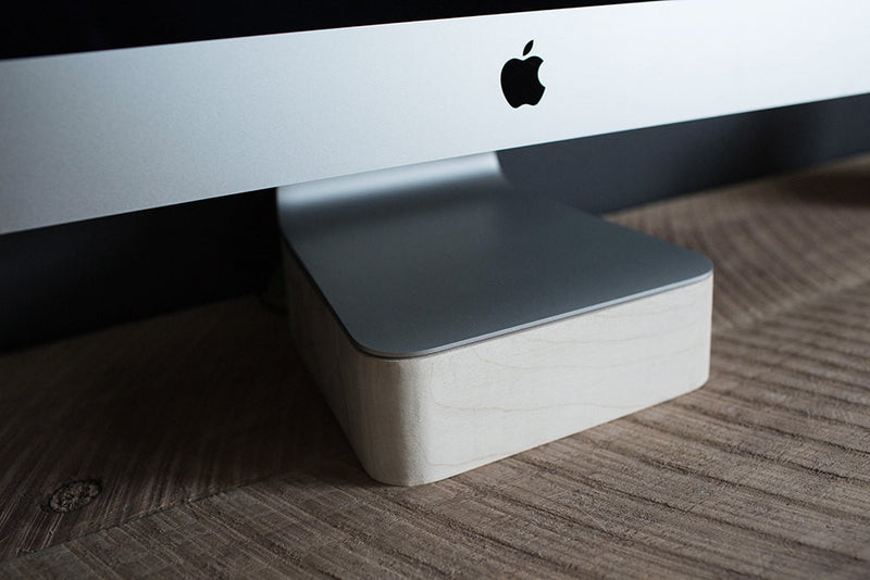 iMac & Thunderbolt Computer Stand Maple Wood