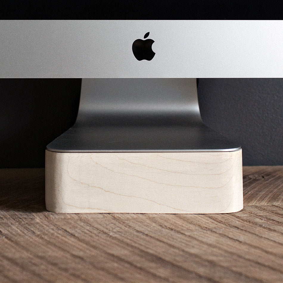 iMac, Thunderbolt Computer Stand, Apple Computer, Maple Wood, Handcrafted, Handmade, Made in Canada