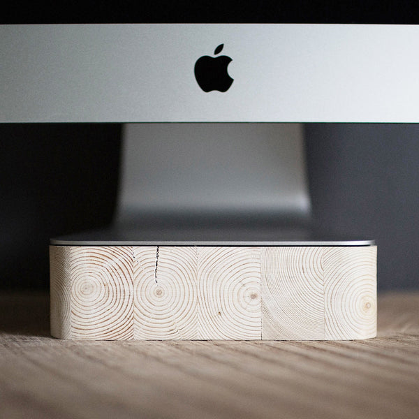iMac & Thunderbolt Computer Stand Pine Wood