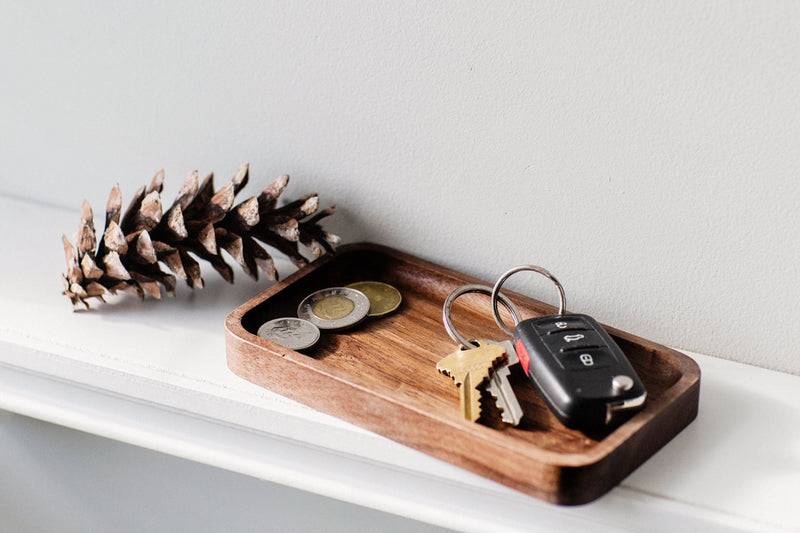 Catchall Tray / Valet Tray, Multi-Purpose, Walnut Wood, Handcrafted, Handmade, Made in Canada