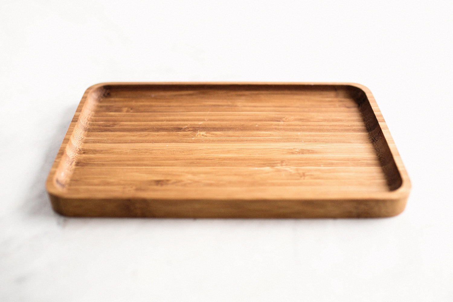 Catchall Valet Tray, Bamboo, Handcrafted, Cafe Tray, Food Safe, Handmade, Made in Canada
