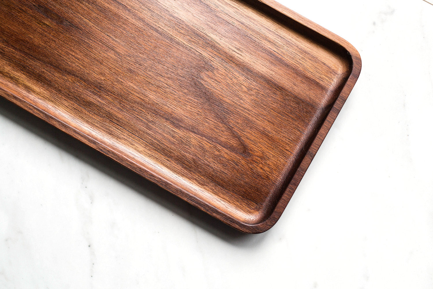 Catchall Tray / Valet Tray, Multi-Purpose, Walnut Wood, Cafe Food Tray, Food Safe, Handcrafted, Handmade, Made in Canada