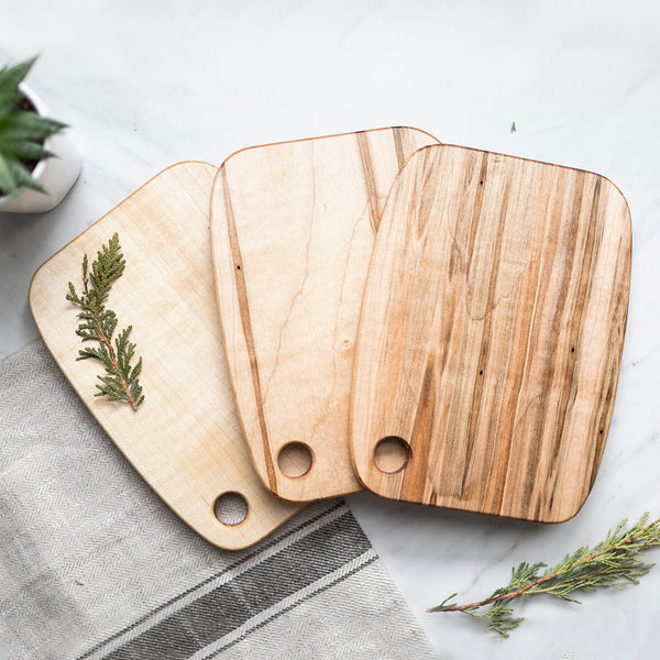 Maple Wood Serving Boards - Set of 3