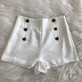 White Bottom Short