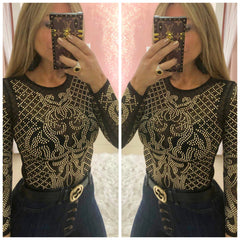 Gold Studs Top