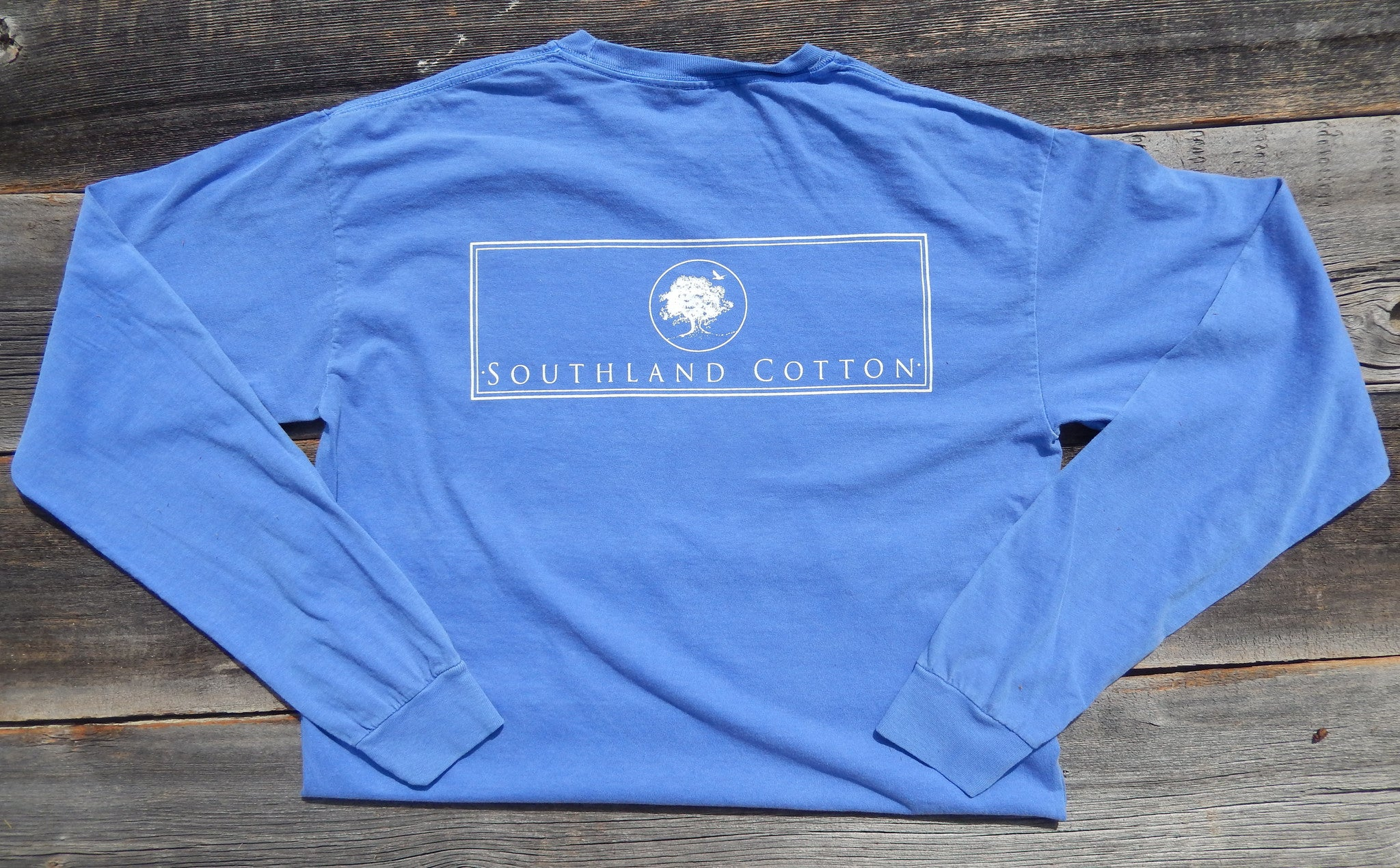 Long Sleeve Sky Blue New Banner Shirt