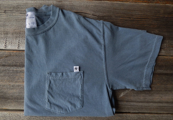 Short Sleeve Blue Jean Basic Pocket Tee