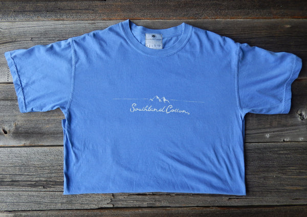 Short Sleeve Sky Blue Chimney Tops Shirt