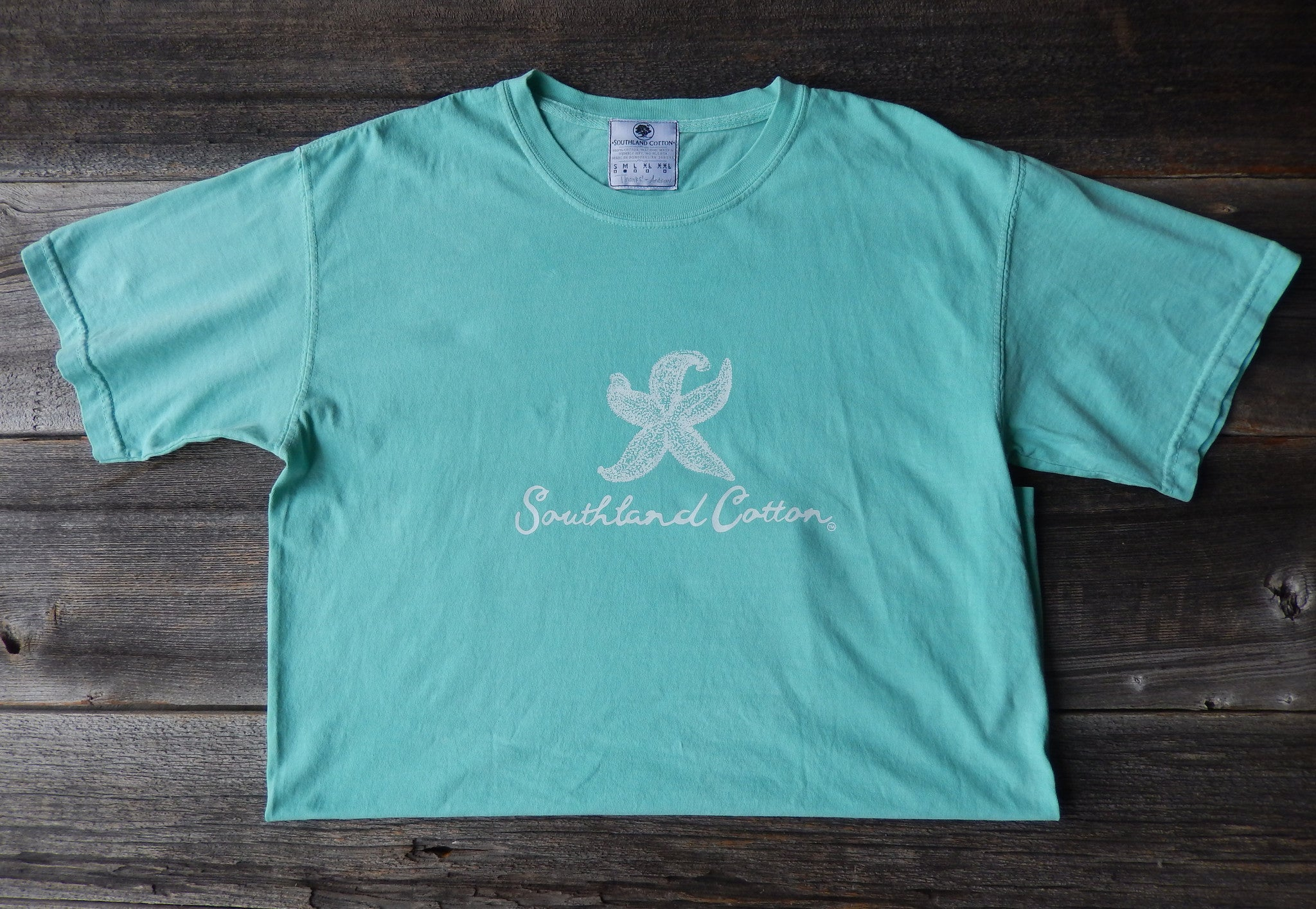 Short Sleeve Chalky Mint Starfish Shirt