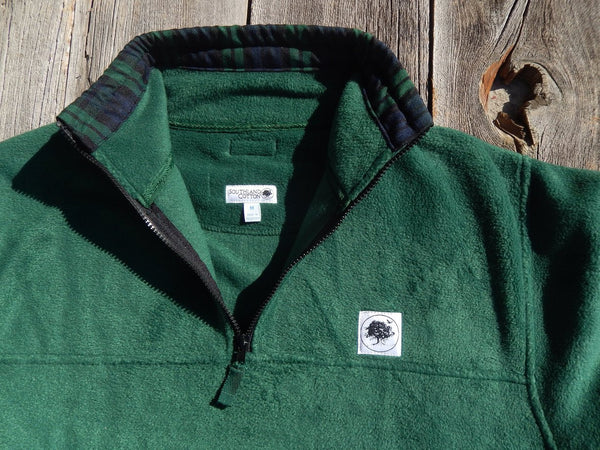 Field Green Navy-Plaid Campus Fleece