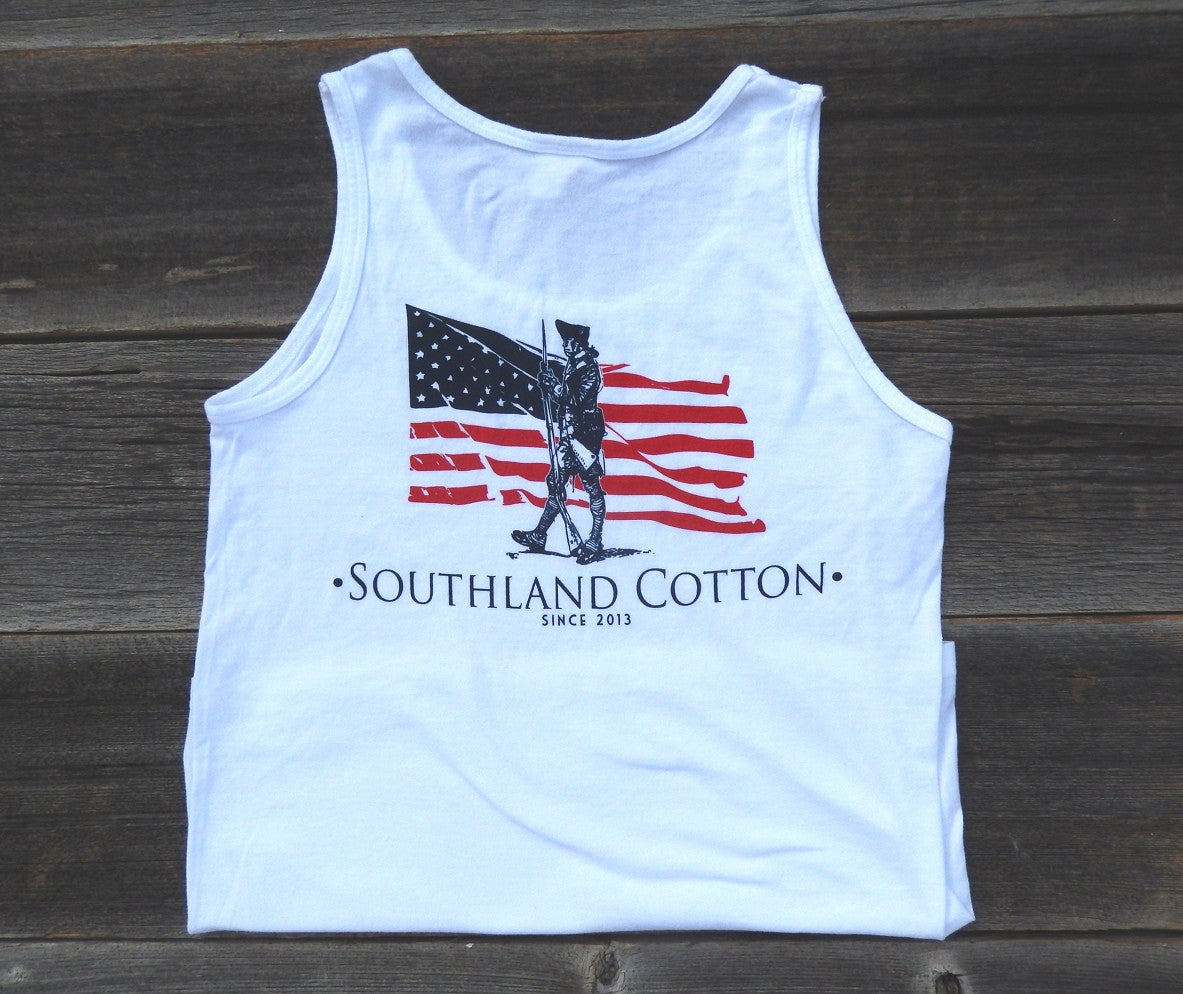 Pearl White Independence Tank Top