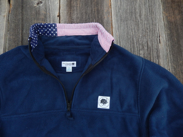 True Navy Freedom Flag Campus Fleece