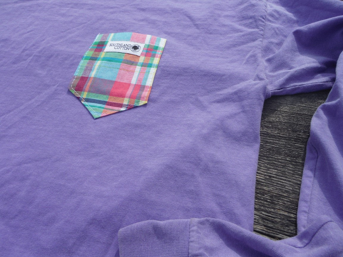 Long Sleeve Plum Purple Prepstar Pocket Shirt