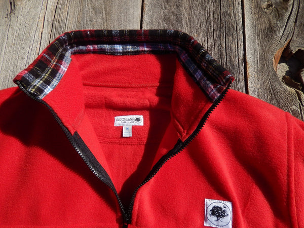 Bright Red Lumberjack Campus Fleece