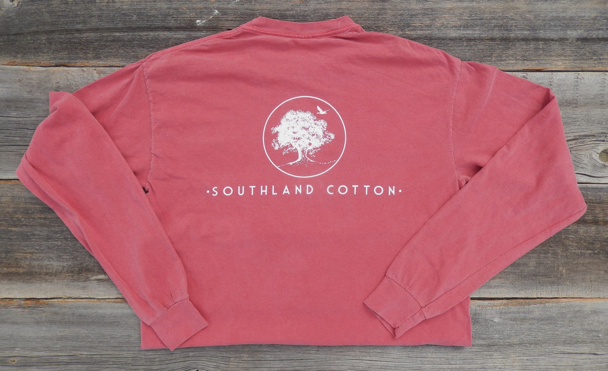 Long Sleeve Autumn Red New Banner Shirt