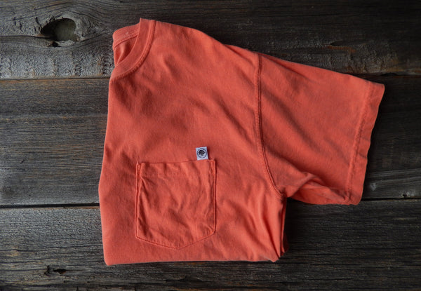 Short Sleeve Salmon Basic Pocket Tee