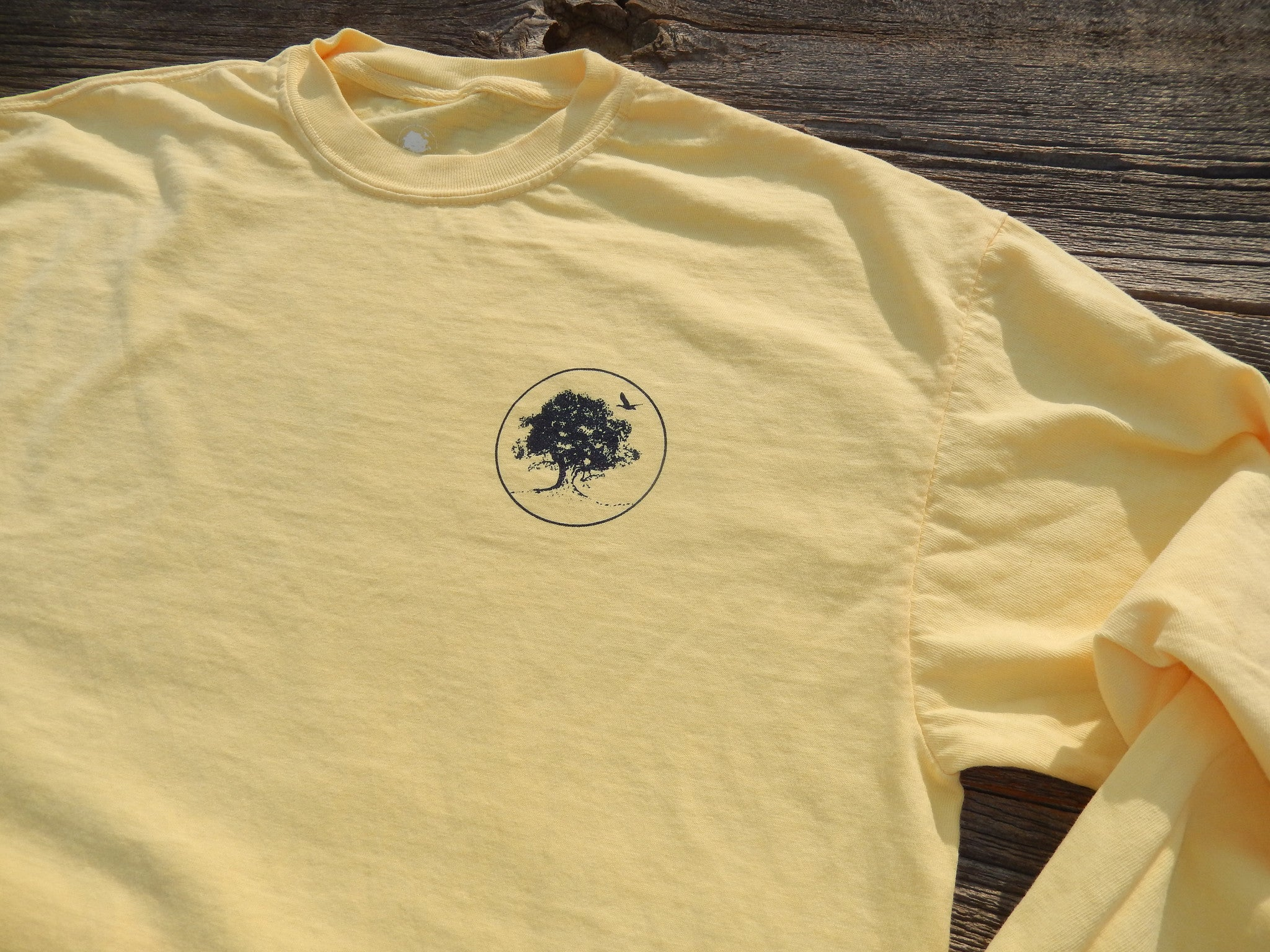 Long Sleeve Smooth Yellow New Banner Shirt