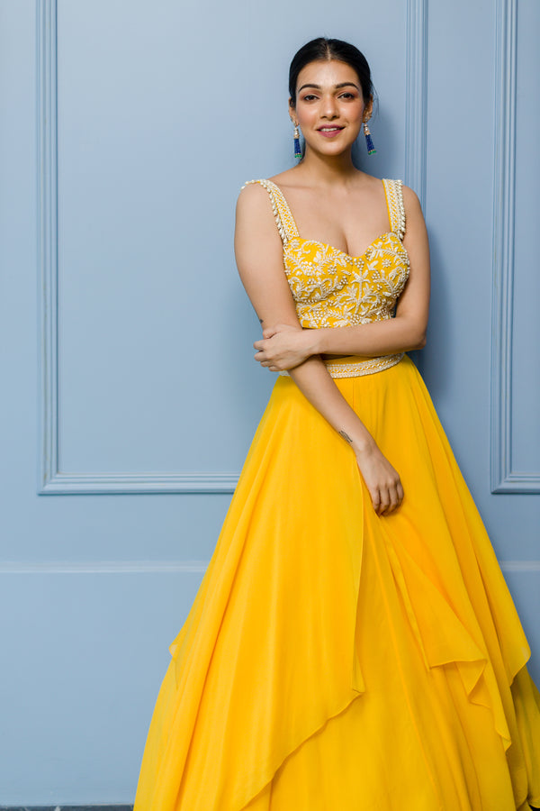 Mango Bustier and Panelled Skirt Set