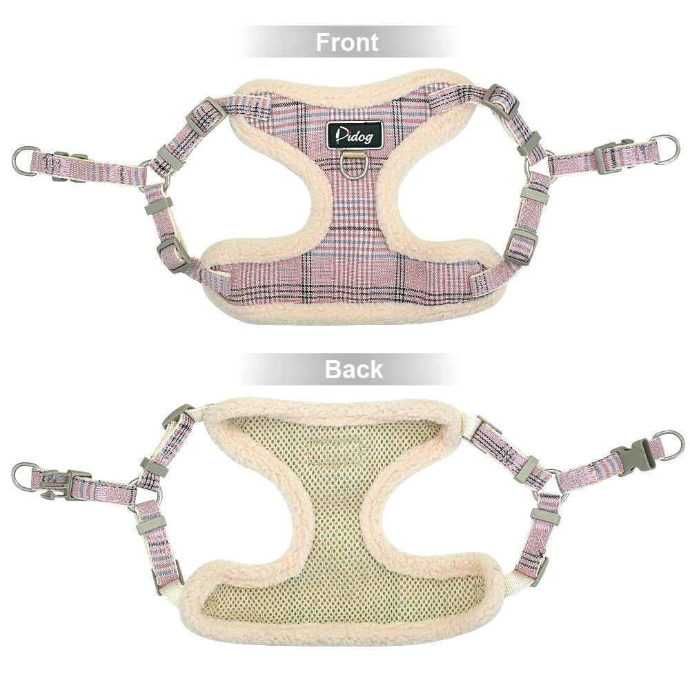 interior and exterior views of dog harness