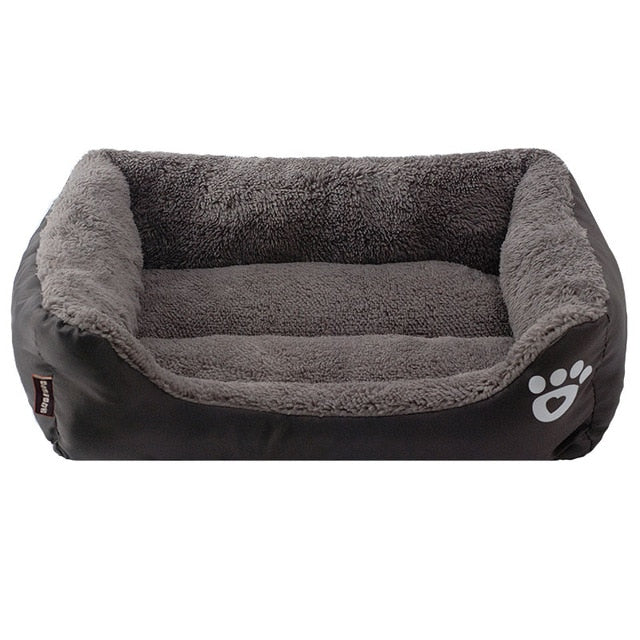 black and grey rectangular pet bed