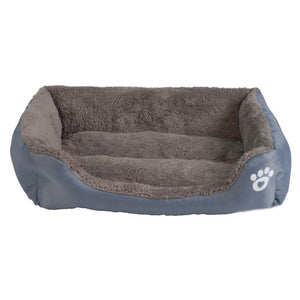 grey rectangular pet bed