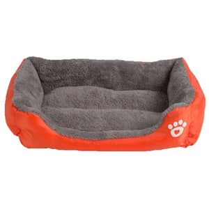 orange and grey rectangular pet bed