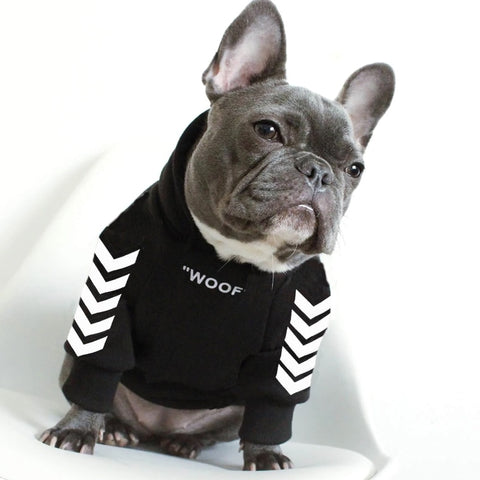 Woof Jersey Dog Hoodie