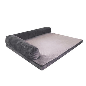 rectangular grey pet bed