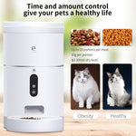 4L Automatic Pet Feeder Wifi Smart 1080p HD Video Monitor