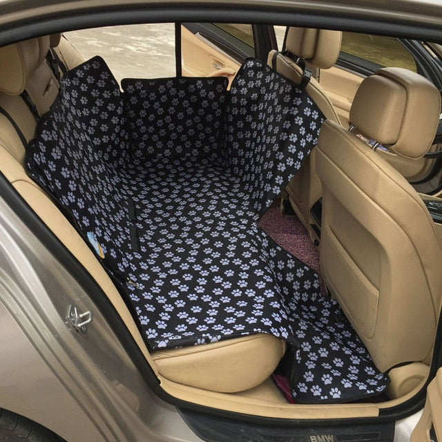 backseat car seat protected laid out in car