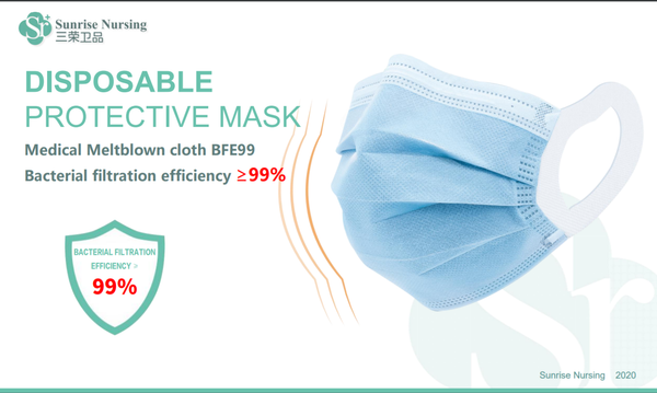 Disposable protective masks (3 Ply Masks - Loop)