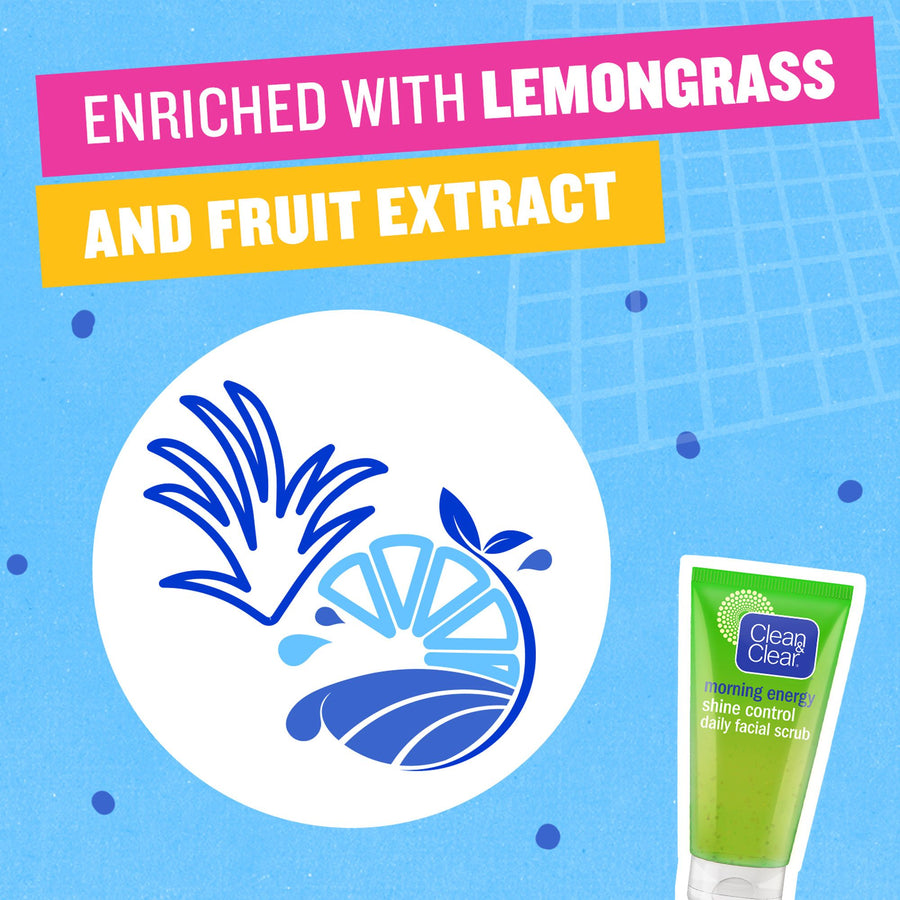 Facial Scrub By Clean & Clear Morning Energy Shine Control