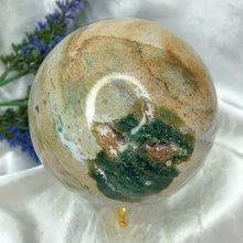 Load image into Gallery viewer, Druzy Ocean Jasper Sphere