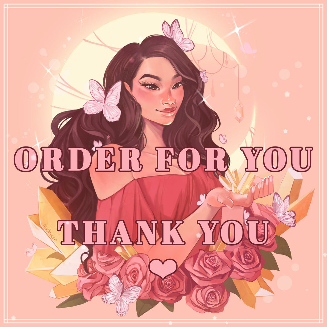 Order for @lilangelbiitch