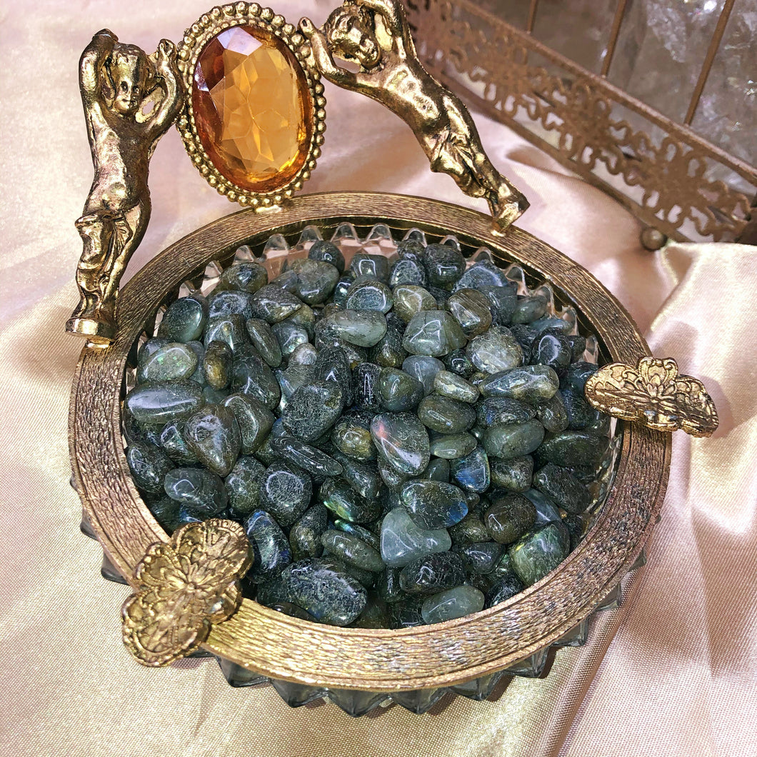 Labradorite Chips & Tumbled Baggies