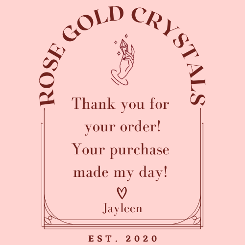 Order for lotsofcrystals & sweetletterscalligraphy