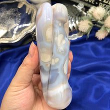 Load image into Gallery viewer, Large 'Blue' Flower Agate Angel - C
