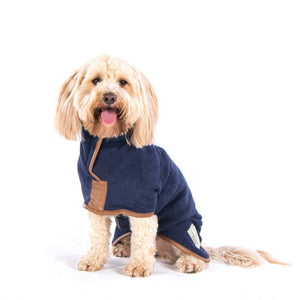 Ruff and Tumble Country Dog Drying Coat (faux leather trim)